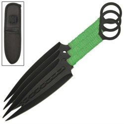 Zombie Killer Forked Tail Devil Three-Piece Throwing Knives
