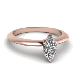 Fascinating Diamonds 0.75 Ct Marquise Cut Diamond Knife Edge Style Solitaire Engagement Ring Si1-D Gia