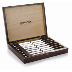 Eight Piece Steak Knife Set In Rosewood Box