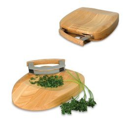 Herb Chop Block And Double Bladed Knife Set Kit