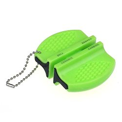 Tpt New Mini Ceramic Rod Tungsten Steel Camp Kitchen Knife Sharpener Tool (Green)