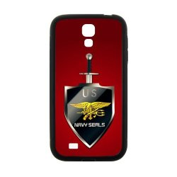 Jdsitem U.S. Navy Seals Simple Red Pattern Case Cover Sleeve Protector For Phone Samsung Galaxy S4 I9500 (Laser Technology)