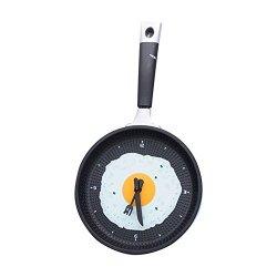 Stylish Creative Wall Clock Fried Eggs Pan Shaped Clock
