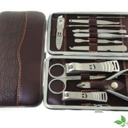 Deluxe Vogue 12 Pcs Smiley Nail Care Personal Manicure & Pedicure Set, Travel & Grooming Kit,The Best Gift Idea...