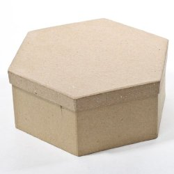 Hexagon Paper Mache Boxes With Lids - Package Of 4 Boxes
