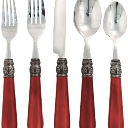 Hampton Forge Argent Sophia 20-Piece Flatware Set, Red, Afu70920Qf
