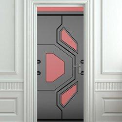 "Door Sticker Futuristic Gate Hi-Tech Star Trek Mural Decole Film Self-Adhesive Poster 30X79""(77X200 Cm)"