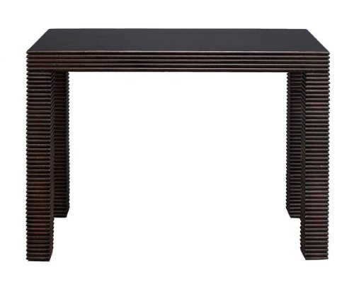 Image of Black Sand Through Terra Cotta Sleek Console Table (WLI-69027)
