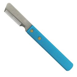 Master Grooming Tools 6-3/4-Inch Stainless Steel Pet Stripper Knive, Coarse