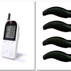 Maverick Et732 Long Range Wireless Dual 2 Probe Bbq Smoker Meat Thermometer Set + 4 Miracle Blade Steak Knives (White)