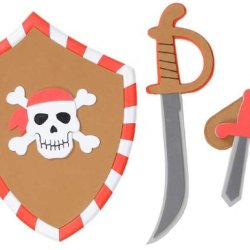 Creative Education'S Boys Pirate Sword/Shield Set (One Size)