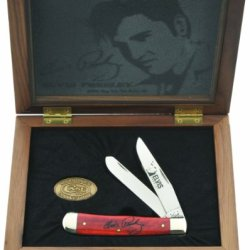 Case Cutlery 17504 Elvis Presley Commemorative Trapper With Smooth Old Red Bone Handle