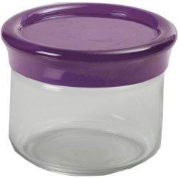 Kdg International Omada Trendy Glass Food Storage Container, 0.5-Liter, Plum