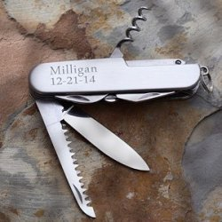 Personalized All Purpose Pocket Knife - Multi Functions