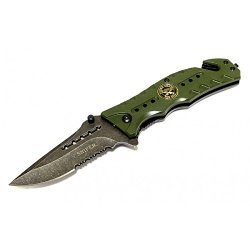 "New 8"" Sniper Green Folding Spring Assisted Knife With Belt Clip"