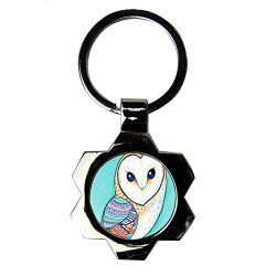 Generic Friendly Key Ring Designing With Cute Funny Owl Hang Metallica Card A27