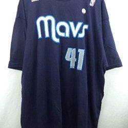 Dallas Mavericks #41 Dirk Nowitzki Dark Blue Name And Number T-Shirt 2Xl