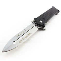 "Unlimited Wares Joker ""Why So Serious?"" Assisted Opening Folding Knife 4.5-Inch Closed"