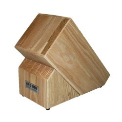 Cold Steel Wood Block For Kitchen Classics Counter-Top Oak Stand