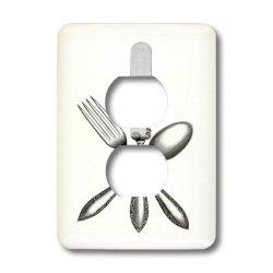 Florene - Vintage Ii - Image Of Knife Fork Spoon Vintage - Light Switch Covers - 2 Plug Outlet Cover (Lsp_174022_6)