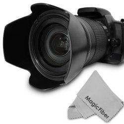 Hb-32 Dedicated Altura Photo Lens Hood For Nikon 18-140Mm F/3.5-5.6G Ed Vr, 18-135Mm F/3.5-5.6G If-Ed, 18-105Mm F/3.5-5.6G Ed Vr, 18-70Mm F/3.5-4.5G If-Ed Nikkor Dx Lenses (Nikon Hb-32 Replacement) + Magicfiber Microfiber Lens Cleaning Cloth