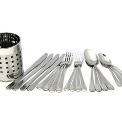 Chef Craft 20-Piece Stainless Steel Flatware Set With Holder