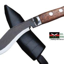 "Genuine Gurkha Full Tang Blade Kukri Knife - 5"" Blade Panawal Rust Free Angkhola Kitchen Kukri - Handmade By Ex Gurkha Khukuri House In Nepal"