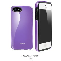 Apple Iphone 5 / 5S Premium Glossy Hard Case Slim Fit Cellphone Uv Cover (Berry Violet)