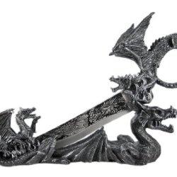 Wicked Dragon Skull Fantasy Knife & Holder Dagger