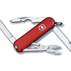 10 Functions Mini 58Mm Swiss Army Classic Pocket Knife(Red)
