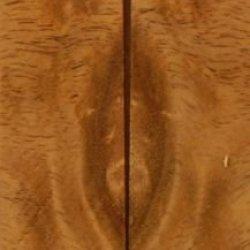 "Teak Burl Eye 2 Pc Mini Knife/Razor Scale 3/16""X1""X5"" 801"
