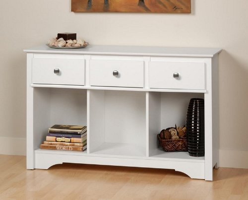 Image of Prepac Monterey Living Room Console Table in White WLC-4830 (WLC-4830)
