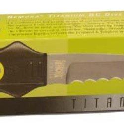 Underwater Kinetics Remora Titanium, Blunt Tip Blade Dive Knife, Yellow 30141