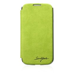 Green- Samsung Galaxy S4 Tridea 100% Premium Italian Pu Credit Card Holder Flip Case With Speaker Hole
