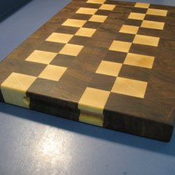 Large End Grain Walnut And Maple Cutting Board