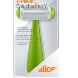 Slice 00132 Ceramic Blade Y-Peeler, Green