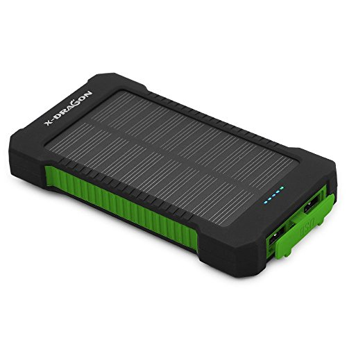 Solar-Charger-X-DRAGON-Portable-10000mAh-Dual-USB-Solar-Battery-Charger-Power-Bank-for-iPhone-iPad-iPod-Cell-Phone-Tablet-CameraGreen
