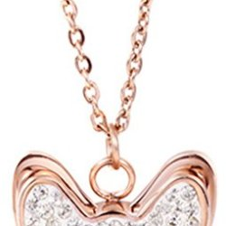 Chariot Trading - 18K Rose Gold Plated Butterfly Necklace Ln024 - Cj-Bg-000256