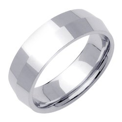 Rounded-Interior Knife Edge Wedding Band In Platinum (7Mm)