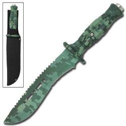 Huntsman Tactical Military Digital Camo Bowie Survival Knife