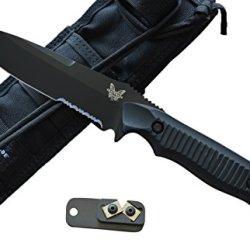 Benchmade 140Sbk Nimravus Fixed Blade Knife W/ Free Benchmade Knife Sharpener