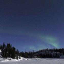 Aurora Over Vee Lake, Yellowknife, Northwest Territories, Canada. 32 X 48 Poster