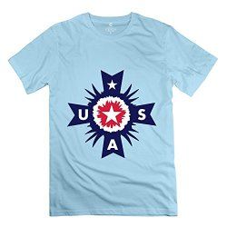 Medal Usa Popular Mens T Shirts Size Xs Color Skyblue