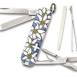 Victorinox Swiss Army Classic Edelweiss Pocket Knife (Blue)