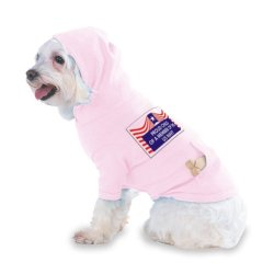 Proud Child Of A Member Of The Us Navy Hooded (Hoody) T-Shirt With Pocket For Your Dog Or Cat Size Xs Lt Pink