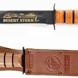 Ka-Bar Desert Storm 15Th Anniversary Commemorative Knife, Usmc Stamp 2-9152-4