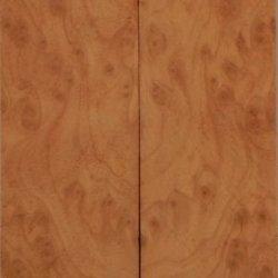 """Redwood Burl Eye (2 Pc) Knife/Razor Scale 1/4""""X1 1/2""""X6"""" 801"""