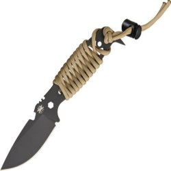Dpx Gear Hest Ii Assault Fixed Blade Knife,3.15In, Black Satin Tool Steel Blade W/ Desert Dphsx024