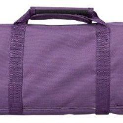 Messermeister 12-Pocket Padded Knife Roll, Plum