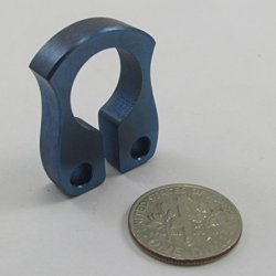 John Gray Knives - Titanium Mini Keyper Keeper - Tactical Key Chain Ring Bottle Opener - Made In The Usa - Anodized Blue